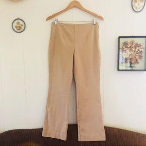 Boston Proper • Stretchy Tan Straight Leg Pants